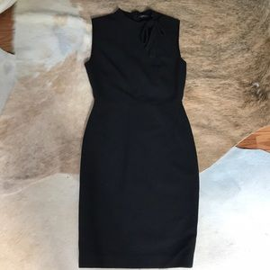 Zara Black Sheath Dress with Bow Size S